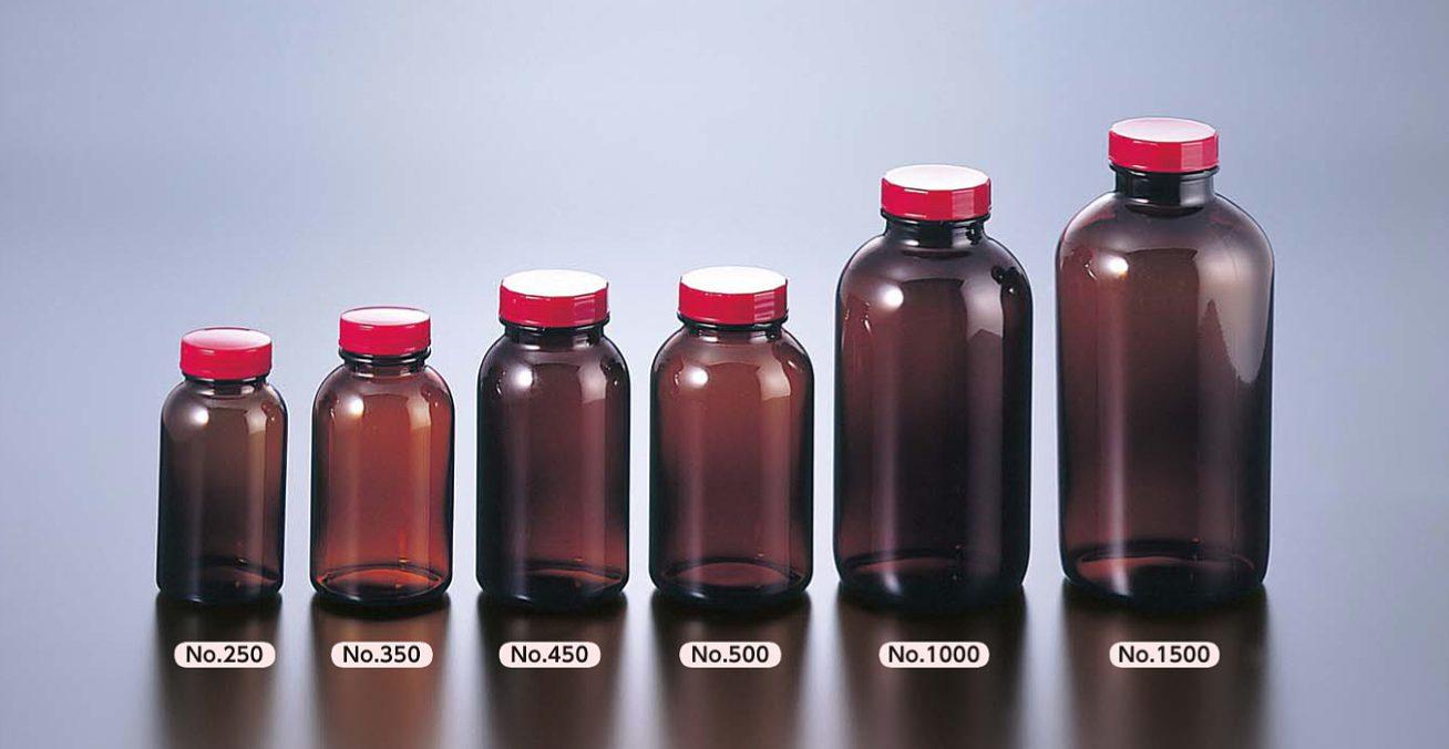 広口瓶 褐色