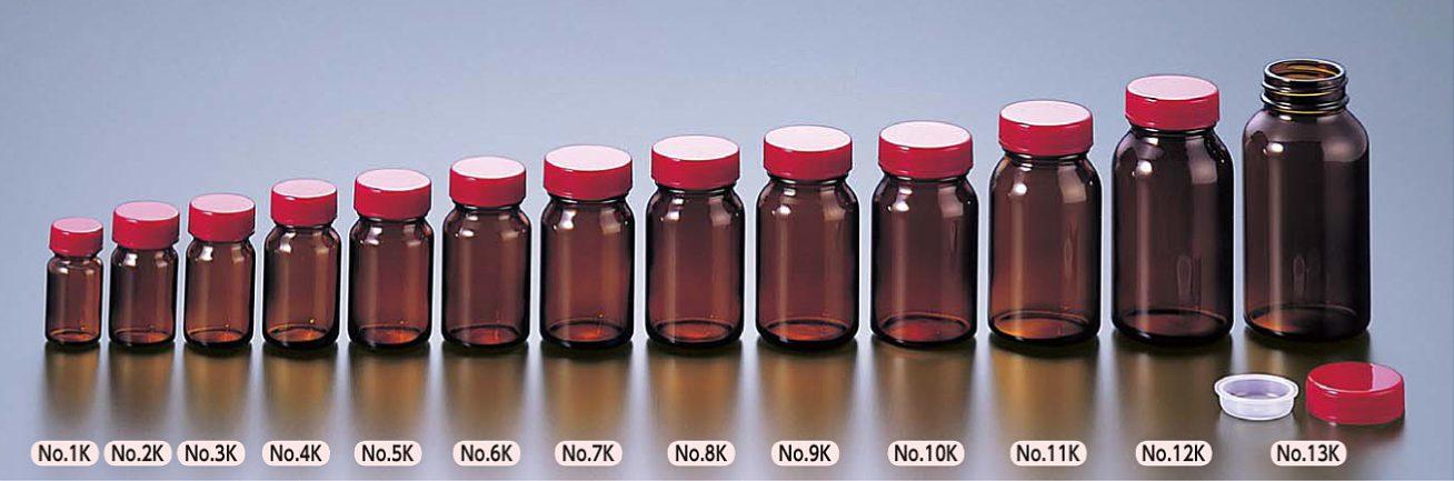 ガラス軽量規格瓶 褐色
