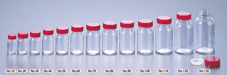 ガラス軽量規格瓶 透明
